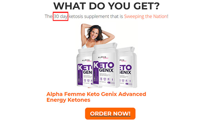 alpha femme keto genix review