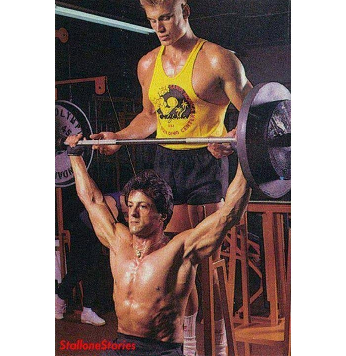 Sylvester Stallone Dolph Lundgren workouts