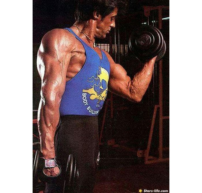 Sylvester Stallone biceps workout