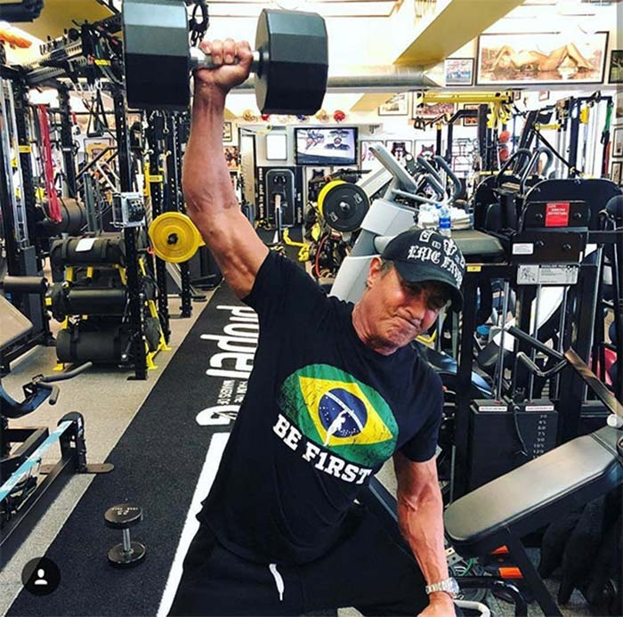 Sylvester Stallone 2020 workout