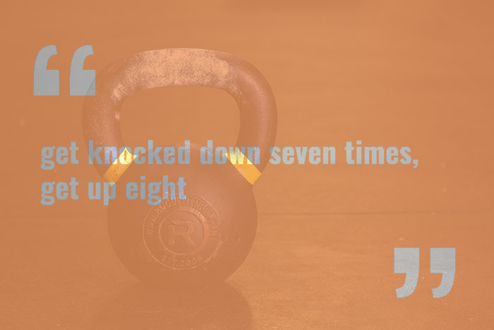 get knocked down seven times get up eight