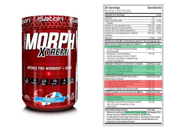 isatori morph xtreme pre workout review