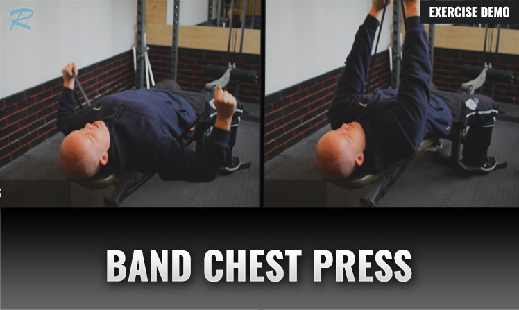 chest press with resistance band under bench